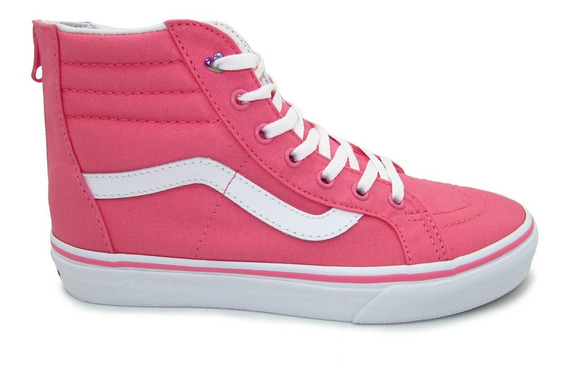 Tenis Vans Sk8 Hi Zip Heart Eyelet Vn0a3276vii Strawberry Ro