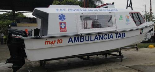 Bote Ambulancia -  Ambulancia Maritima - Ambulancia Fluvial
