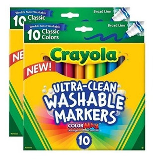 Crayola Ultra Clean 10 Washable Markers - 2 Paquetes