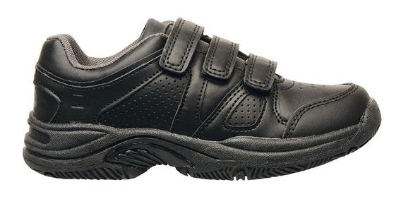 Zapatillas Deportivas Abrojos Marcel Nene Nena Cuero Negra