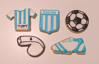 Cookies Decoradas Futbol Comestibles En Mercado Libre