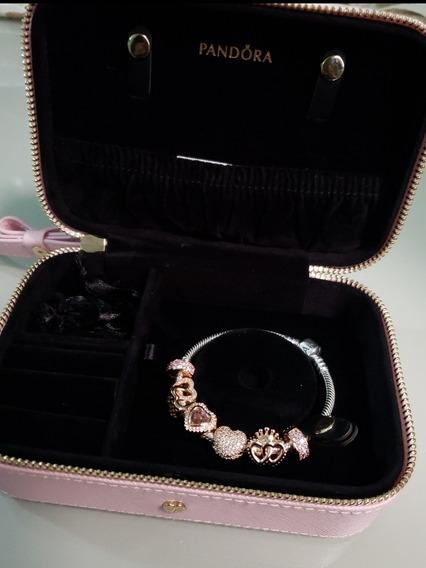 Bracelete Charm Pandora Original Com Nota Fiscal