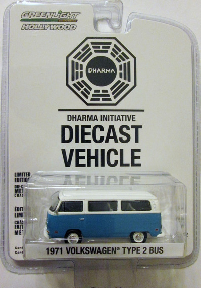 Greenlight Lost 1971 Volkswagen Type 2 Bus Mide 7 Cm. E:1/64