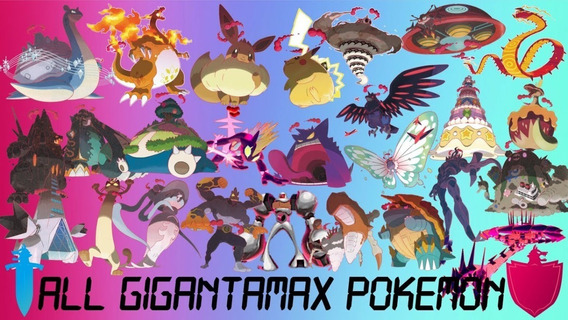 Todas 25 Gigantamax Pokémon 6ivs Shiny Pkm Sword Shield