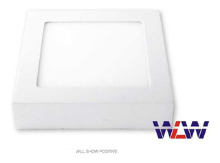 Kit 10un Painel Plafon Led 18w Sobrepor Branco Frio