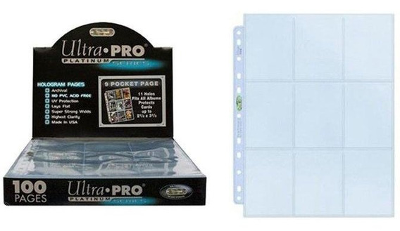 Ultra Pro Platinum Pokemon Adrenalyn 9 Cards - 100 Folhas