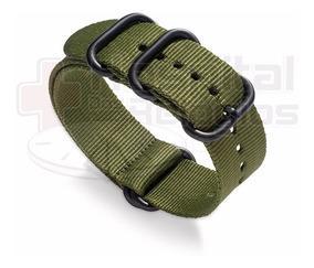 Pulseira Nylon Militar Nato Zulu 26mm Garmin Fenix 3 Verde