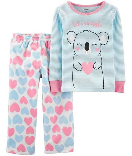 Conjunto Carters Pijama 2 Piezas Koala Celeste Y Rosa