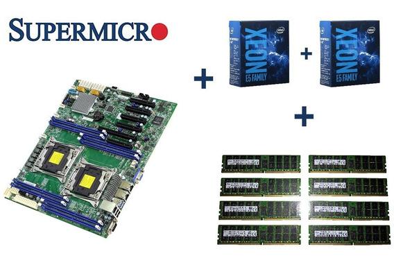 Supermicro X10drl-i+2x Xeon E5-2670 V3 12/24+ 128gb Ddr4 Ecc