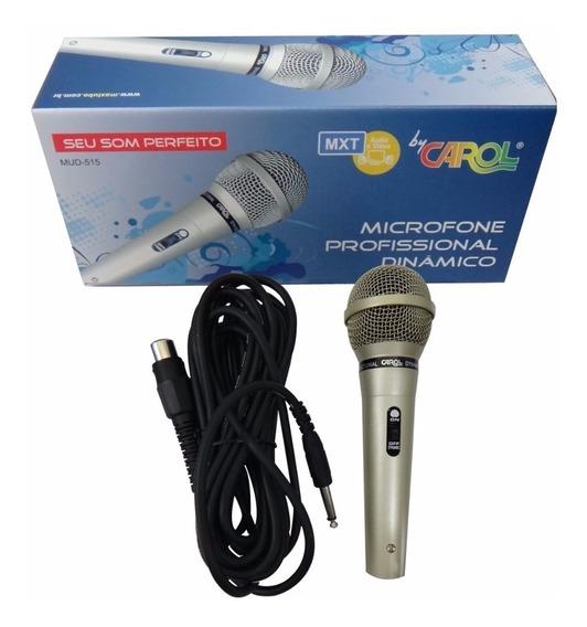 Carol Microfone Dinâmico Mud-515 Cabo