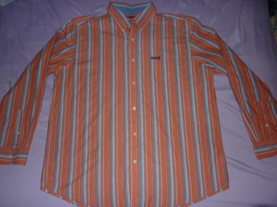 E Camisa Chaps Ralph Lauren Rayada Naranja Rayada Art 68733