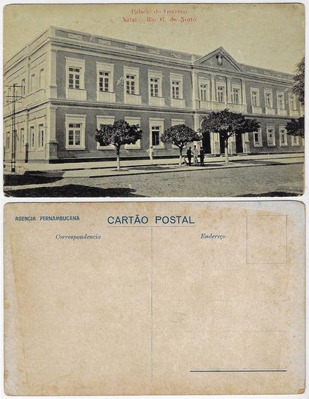 Rn ± 1920 Cartão Postal Foto Palácio Do Governo Em Natal