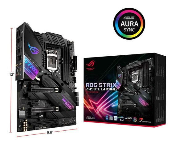 Motherboard Asus Rog Strix Z490 E Gaming Intel Aura Sync