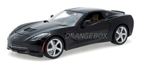 Corvette Stingray 2014 Coupe Maisto 1:18 Preto 31182-preto