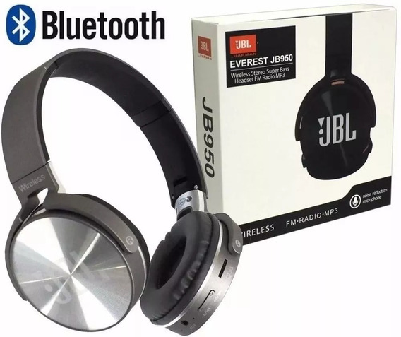 Fone De Ouvido Sem Fio Bluetooth Jb950 Com Fm, Sd E P2