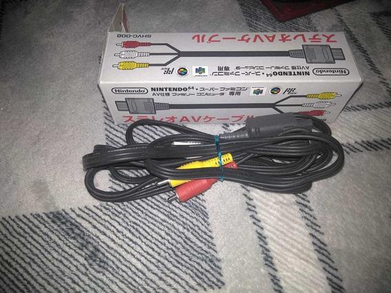 Cabo Av Oficial Nintendo Original Game Cube, Snes Nintendo64