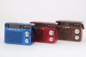 Radio Portatil Vintage Fm/am/sw Sd/usb/mp3
