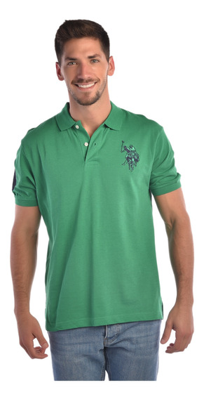 Polo Regular Fit U.s. Polo Verde Uslpm441017 Hombre