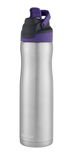 Garrafa Squeeze Térmico 710ml Inox Preto/lilás Bico Retrátil