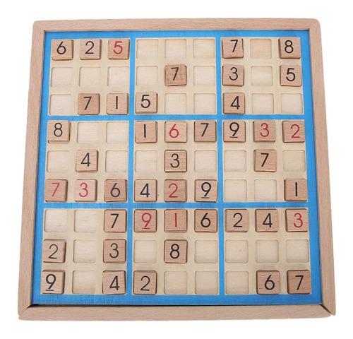 Tablero De Madera Sudoku Con Cajón Bloque De Madera Digit...