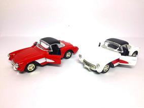 Carrinho Coleção Corvette Conversível 1957