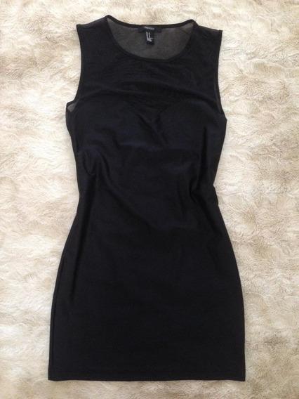 Vestido Negro Forever 21