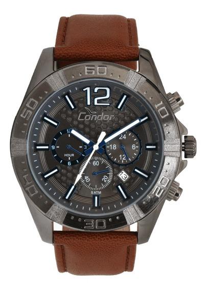 Relógio Condor Masculino Prata Velha, Marrom Covd33as/2p