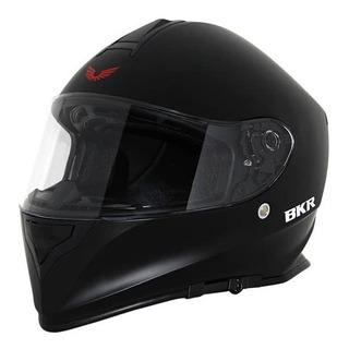 Casco Cerrado Bkr Elite Negro Mate Rider One