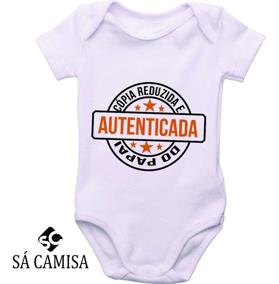 Body Infantil Copia Reduzida Do Papai- Estica