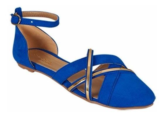 Flat Casual Para Mujer Color Azul Rey