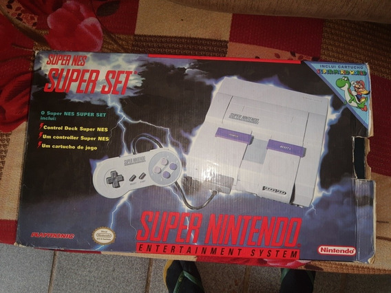 Vídeo Game Super Nintendo Na Caixa Com Dk Sm Originais