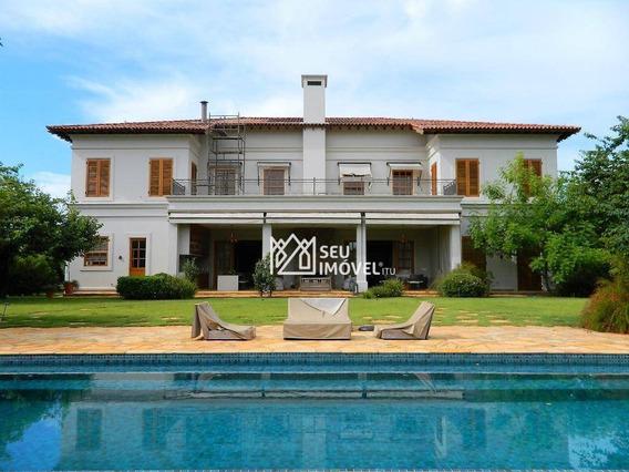Casa Com 6 Dormitórios À Venda, 1000 M² Por R$ 13.000.000,00 - Condomínio Fazenda Boa Vista - Porto Feliz/sp - Ca1412