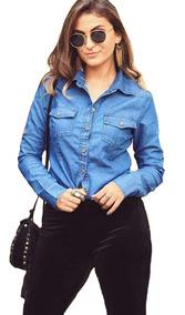 Camisa Blusa Jeans Feminina Linda Primavera 2019 Lançamento