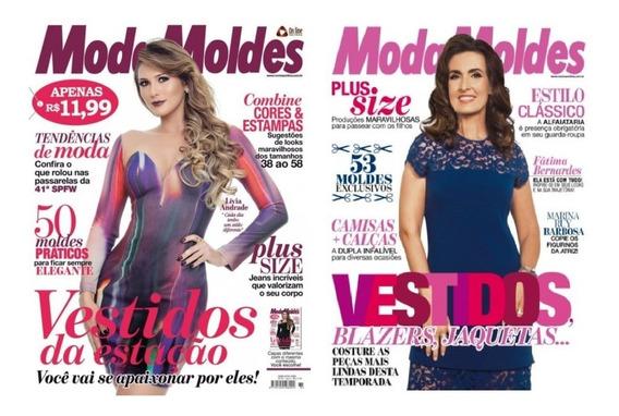 Revista Moda Moldes Kit Com 2 Unidades