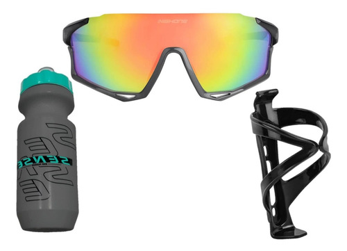 Oculos Ciclismo High One Mark 3 Lentes Uv + Caramanhola Sens