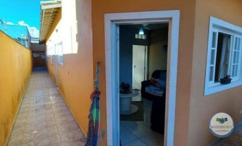 Casa Com 2 Dormitórios À Venda, 76 M² Por R$ 244.000 - Parque Balneário Itanhaem - Itanhaém/sp - Ca0603
