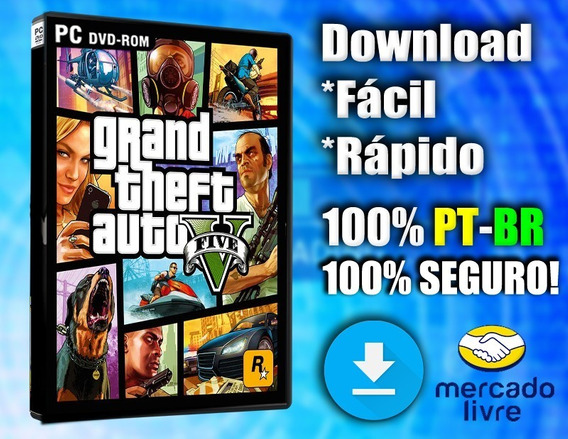 Grand Theft Auto V - Gta 5 - Pc - Português-br Mídia Digital