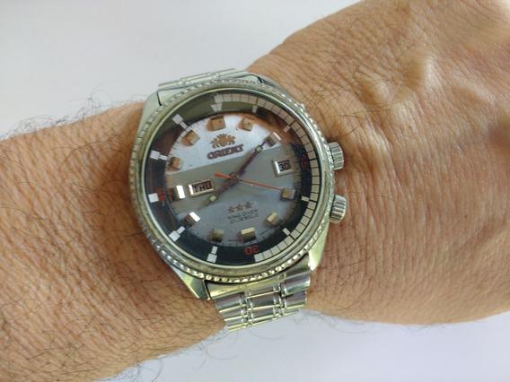 Relógio Orient Kd 2janelas Antigo Coleção King Diver Ótimo