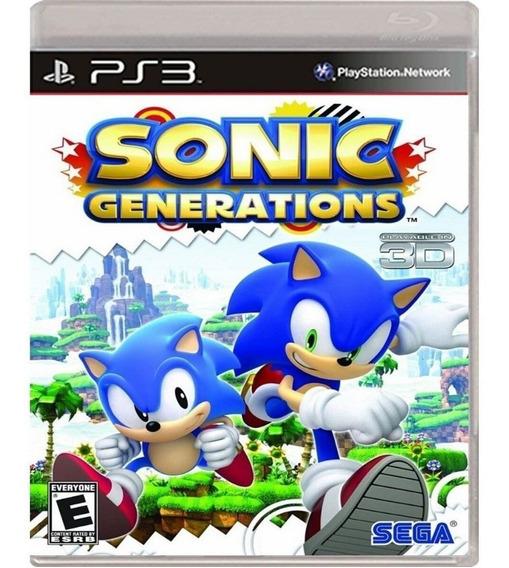 Jogo Sonic Generations Ps3 Usado