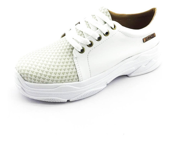 Tênis Quality Shoes Feminino Branco Quadriculado