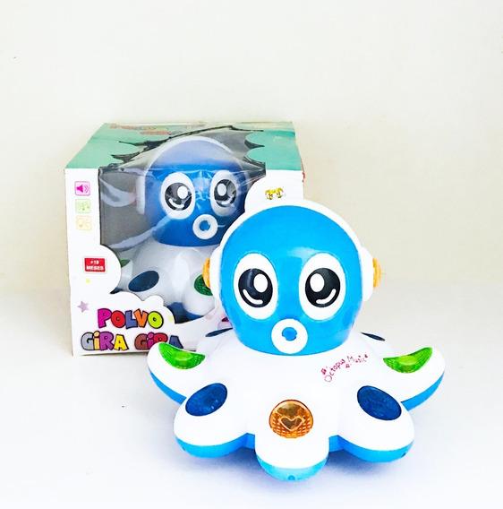 Brinquedo Polvo Divertido 360 Graus Dança Luz Musical