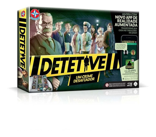 Jogo De Tabuleiro Board Game Detetive Com Aplicativo Estrela