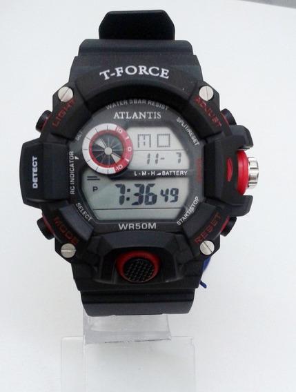 Relógio Masculino Atlantis T-force G5517 Vermelho E Preto