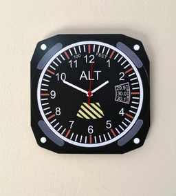 Relógio De Parede Altímetro Aviação Piloto Pilot Breitling