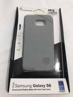8v Protector Para Celular Samsung Galaxy S6 En Silicone Gris