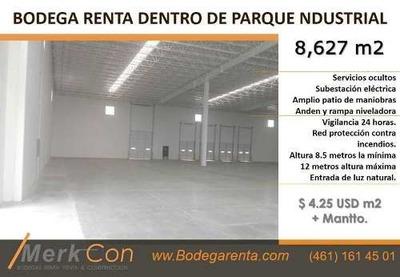 Bodega Renta 8,627 M2 Parque Industrial En Salamanca, Gto. Mexico