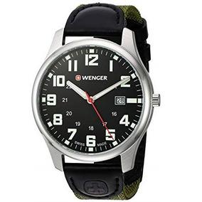 Reloj Wenger City Active Correa De Nylon Verde