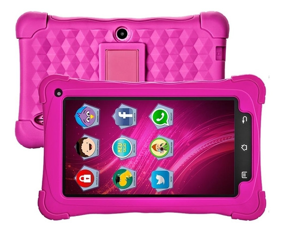 Tablet Kids Mondial 7wifi 7.1 2mp 8gb Tb-19 Rosa - Bivolt