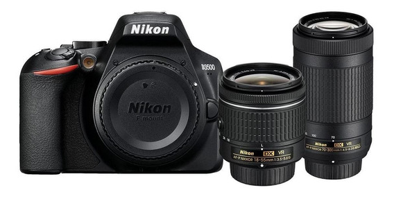 Nikon D3500 18-55mm VR + 70-300mm VR Kit DSLR negra