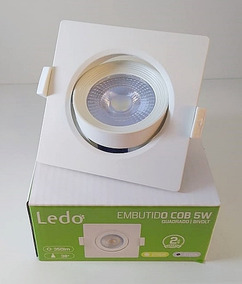Kit 100 Spot 5w Quadrado Branco Frio 5700k - Ledo